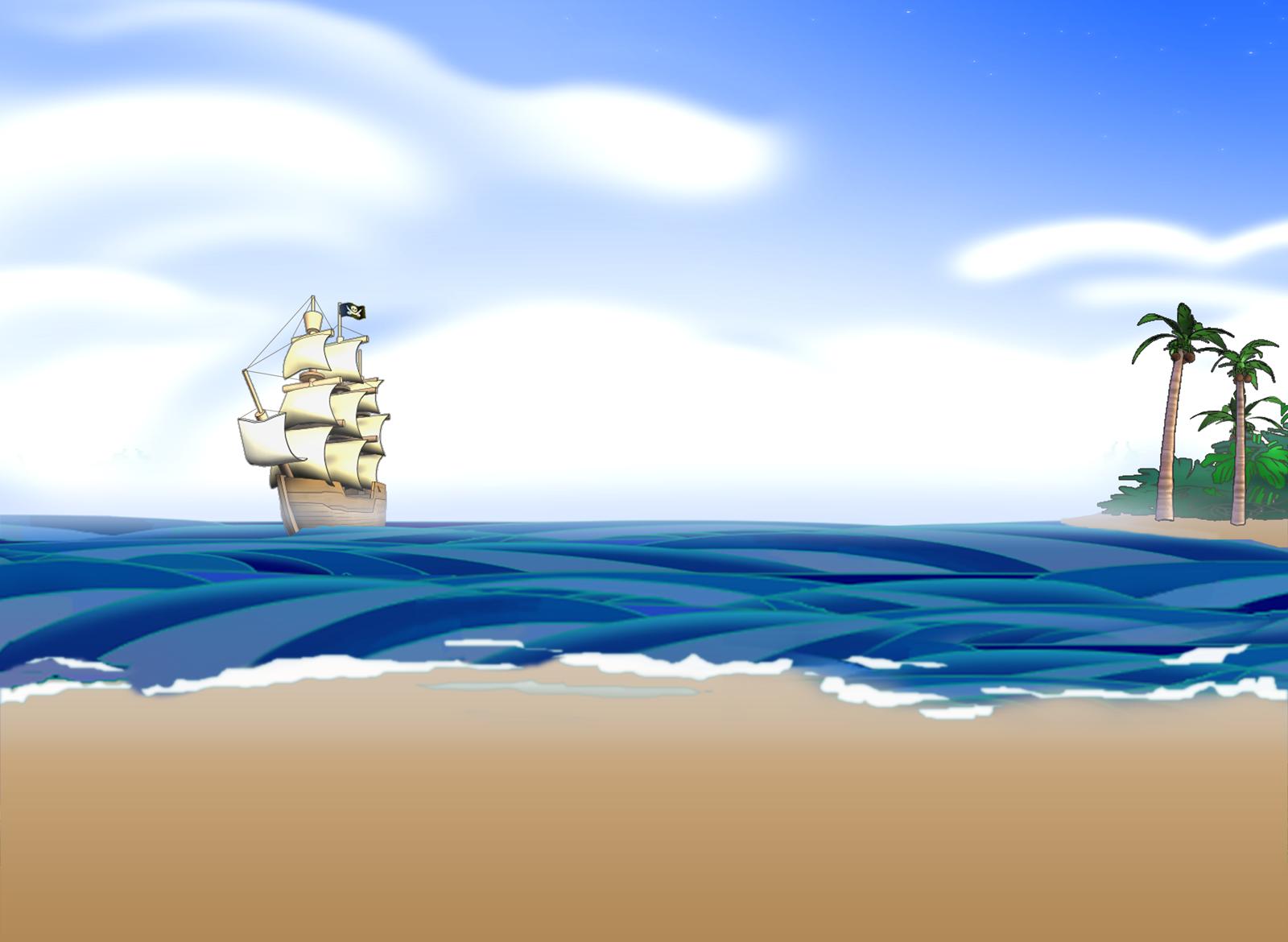 Днем, картинка морской тематики к презентации