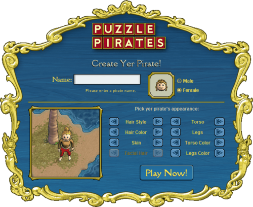 Creating your pirate.