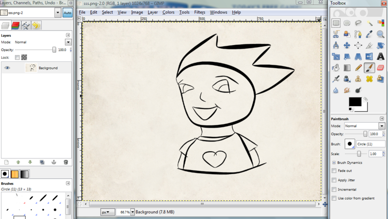 Art How To Colour In A Black Outline In Gimp Yppedia